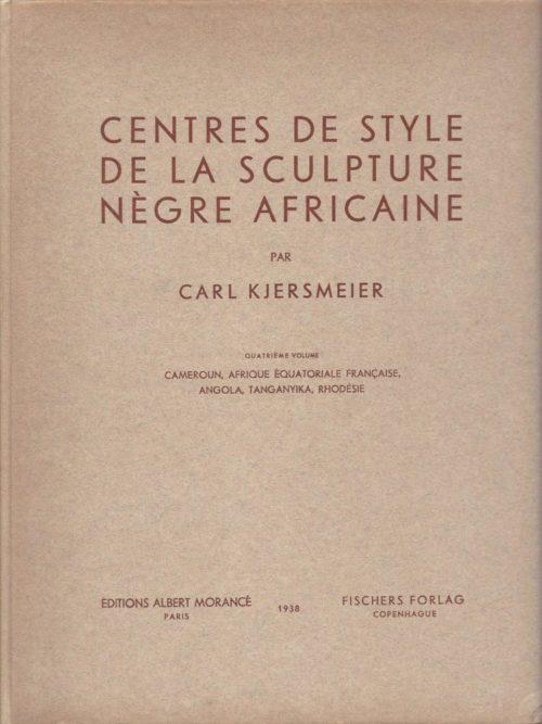CENTRES DE STYLE DE LA SCULPTURE NEGRE AFRICAINE